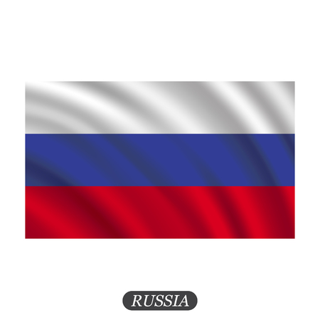 piktogramm: Waving Russia flag on a white background. illustration