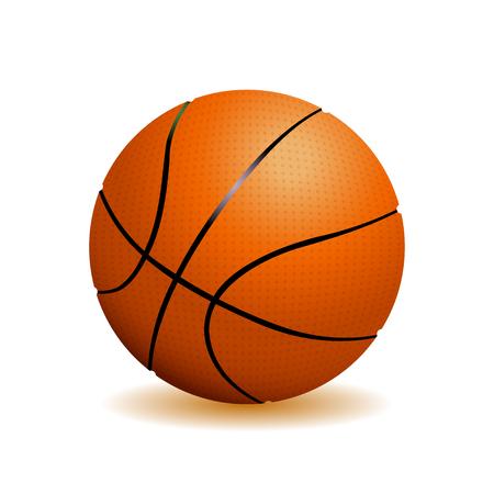 バスケット ボール ボールは、白い背景で隔離。現実的なベクトル図