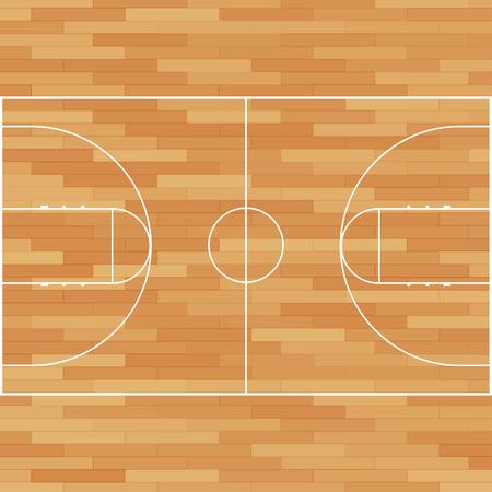 バスケット ボール裁判所。分離されたフィールドです。ベクトル図 eps10