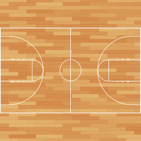 Basketball court. Field isolated. Vector illustration eps10 Vectores