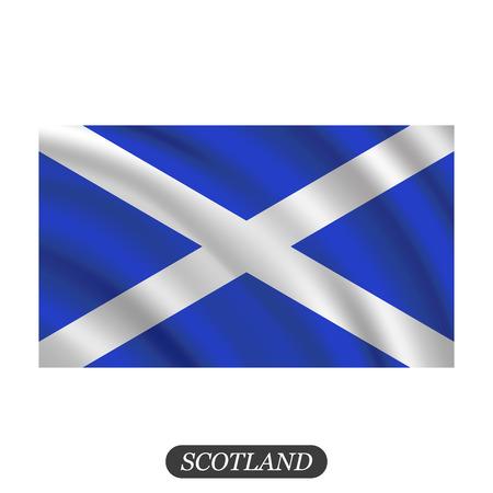 Waving Scotland flag on a white background. Vector illustration