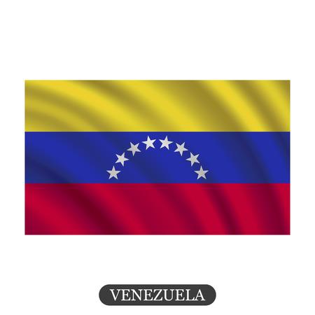 bandera de venezuela: Agitando bandera de Venezuela sobre un fondo blanco. ilustración vectorial