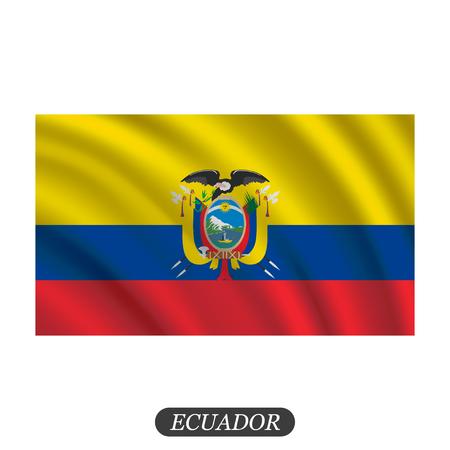 arms trade: Waving Ecuador flag on a white background. Vector illustration