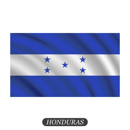 bandera honduras: Agitando bandera Honduras sobre un fondo blanco. ilustración vectorial
