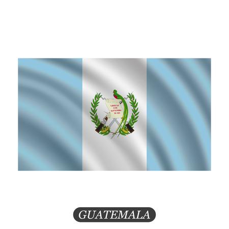 Waving Guatemala flag on a white background. Vector illustration