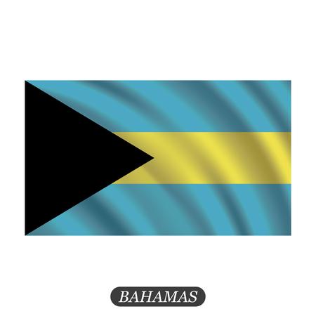 Waving Bahamas flag on a white background. Vector illustration Illustration