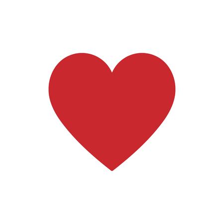 Icona di cuore rosso su uno sfondo bianco. illustrazione di vettore