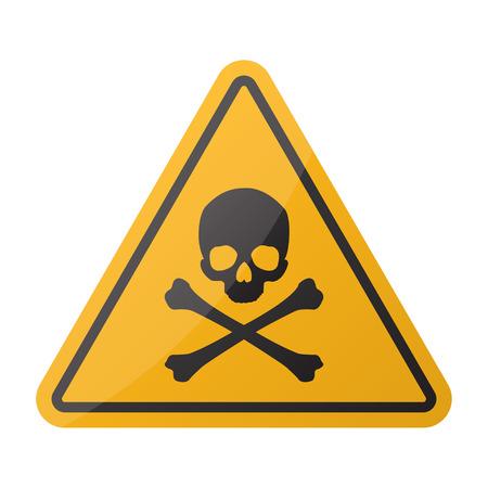 Danger sign. Skull and crossbones sign Illustration