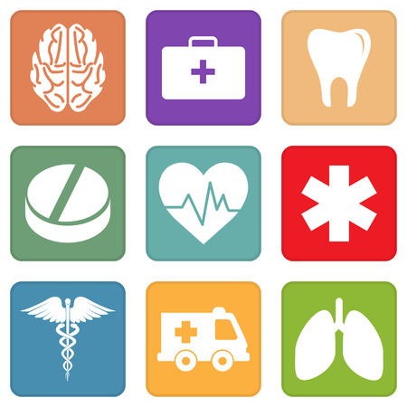 medica: Set of simple medical icons Illustration