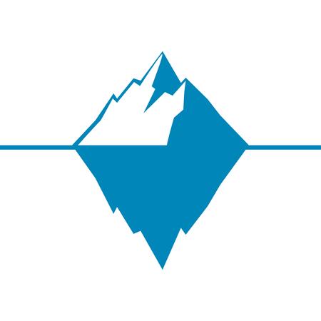 빙산의 벡터 아이콘 흰 배경에 고립입니다. 빙산 벡터 아이콘