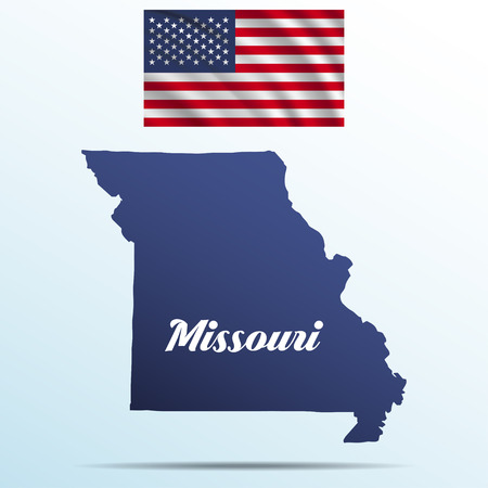 Missouri State Map Cliparts Stock Vector And Royalty Free - Missouri state map usa
