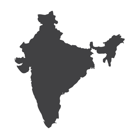 India map in black on a white background. Vector illustration 일러스트