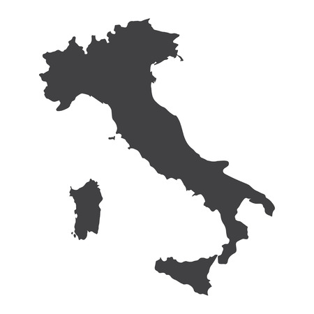 Italy map in black on a white background. Vector illustration
