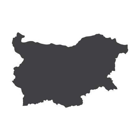 bulgarian: Bulgaria map in black on a white background. Vector illustration