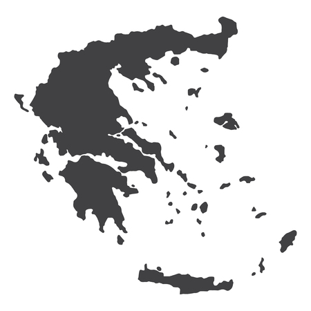 Greece map in black on a white background. Vector illustration