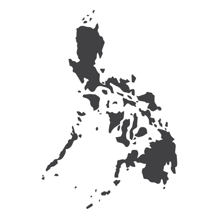 Philippines map in black on a white background. Vector illustration Ilustração