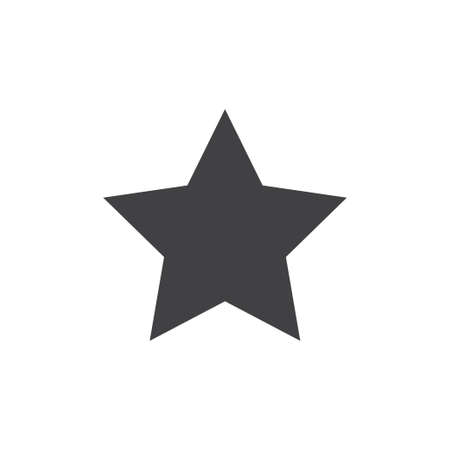 Star icon in black on a white background. Vector illustration Illustration