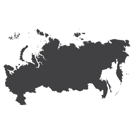 soviet union: Russia map in black on a white background. Vector illustration Illustration