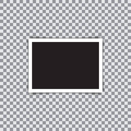 marco retro de la foto con la sombra. ilustración vectorial Ilustración de vector