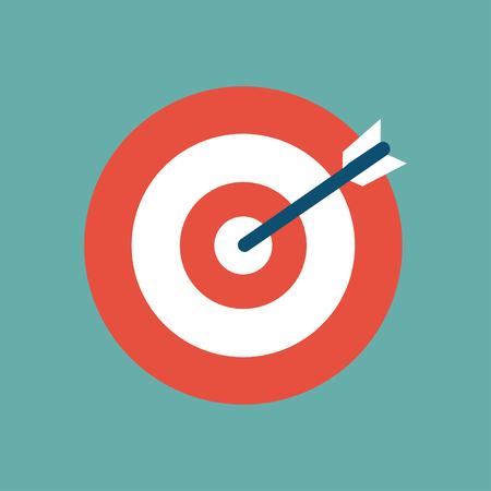 Doel icoon in een vlak ontwerp. Vector illustratie