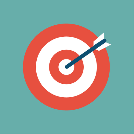 Target icon in a flat design. Vector illustration