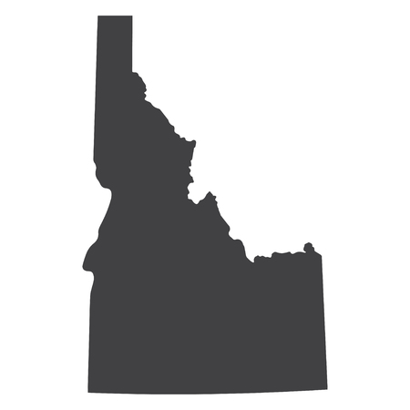 Idaho state map in black on a white background. Vector illustration
