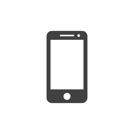 lcd: Smartphone icon in black on a white background. Vector illustration