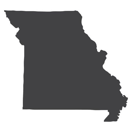 Missouri state map in black on a white background. Vector illustration Vectores