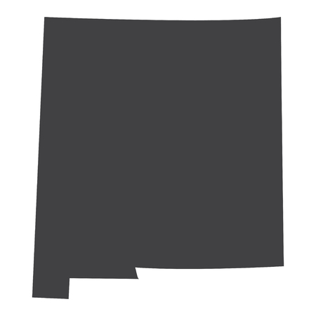 New Mexico state map in black on a white background. Vector illustration