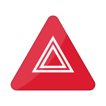 Hazard warning lights flashes button in car. Vector illustration