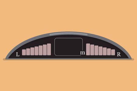 Parktronic car system in a flat design. Vector illustration