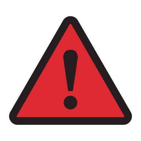 Danger sign. Hazard warning attention sign on a white background Illustration