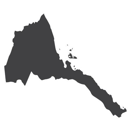 eritrea: Eritrea map in black on a white background. Vector illustration Illustration