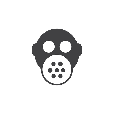 Gas mask icon in black on a white background. Vector illustration Illustration