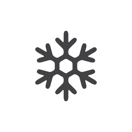 lightweight ornaments: Snowflake icon in black on a white background. Vector illustration