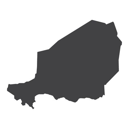 municipality: Niger map in black on a white background. Vector illustration