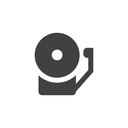 Alarm bell icon in black on a white background. Vector illustration Illustration