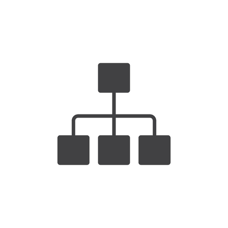 dataset: Network icon in black on a white background. Vector illustration Illustration