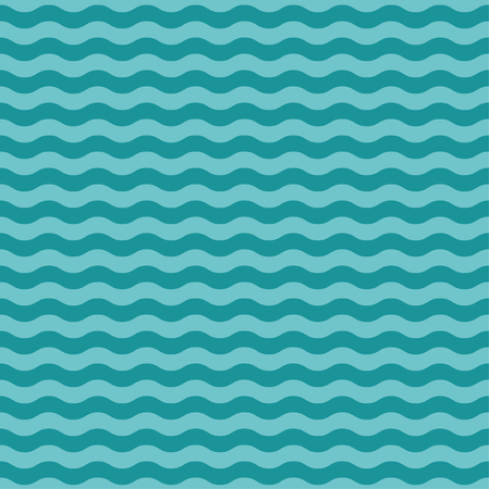 Sea wave seamless pattern. Vector illustration Illustration