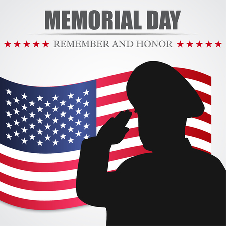 Memorial Day. Remember and honor. Vector illustration Illustration