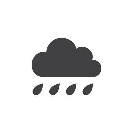 hard rain: Cloud with rain icon.