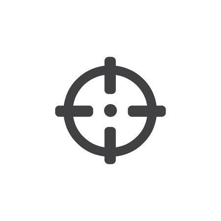 Sight icon in black on a white background. Vector illustration