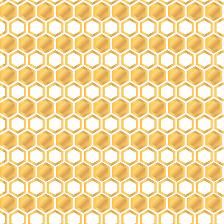 beeswax: Seamless pattern with golden honey comb background