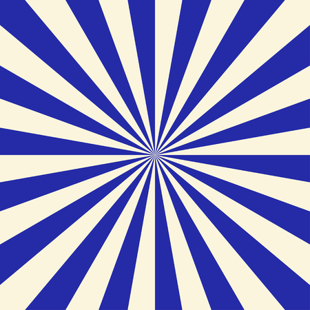 Blue and white sun rays background. Vector illustration