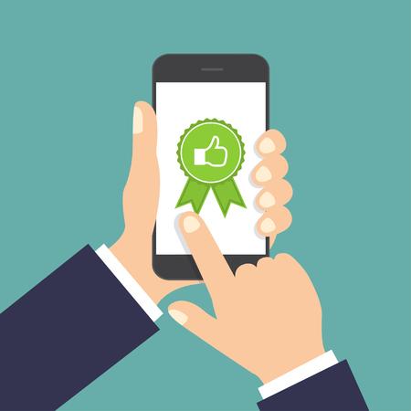 Website rating feedback en beoordeling concept.