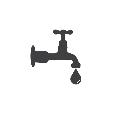 Water mixer icon in black on a white background. Vector illustration Illustration