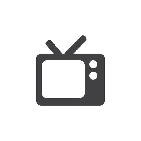 analog: TV icon in black on a white background. Vector illustration Illustration