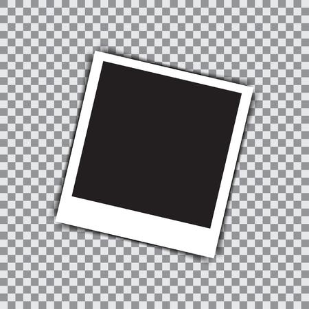 snapshots: Empty retro photo frame on a transparent background