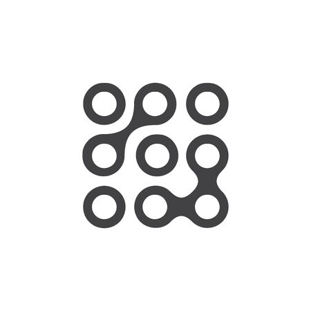 Passcode icon in black on a white background. Vector illustration