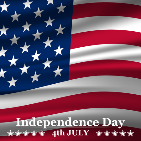 country: Independence Day background with USA flag. Vector illustration
